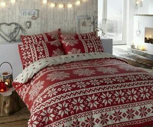 christmas, winter, and bedroom image