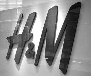 H&M, black, and shop image