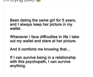funny, Psycho, and Relationship image