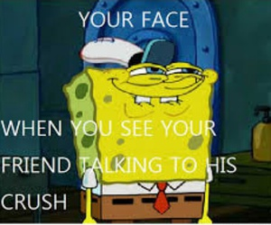 funny, spongebob, and crush image