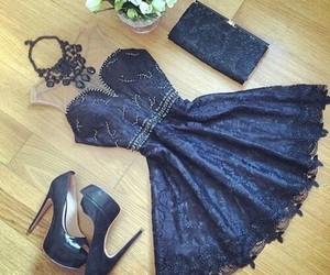 dress, blue, and shoes image