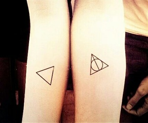 tattoo, triangle, and couple image