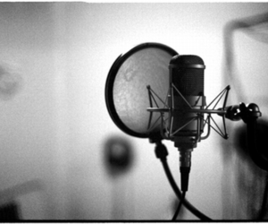 music, sing, and microphone image