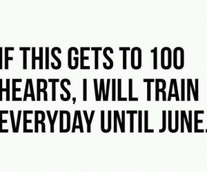 fitness and 100 hearts image