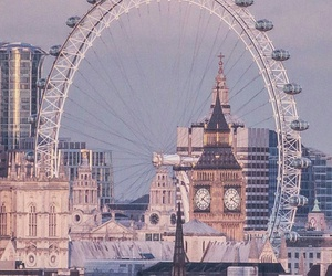 london, city, and river thames image