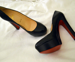 black, classic, and high heel image