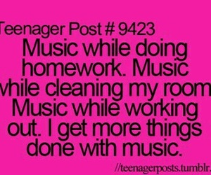 music, homework, and teenager post image