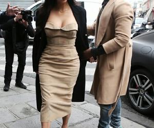 fashion, kim kardashian, and kanye west image
