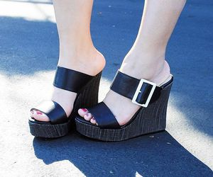 heels, cute wedges, and platforms image