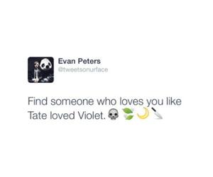 evan peters, ahs, and love image