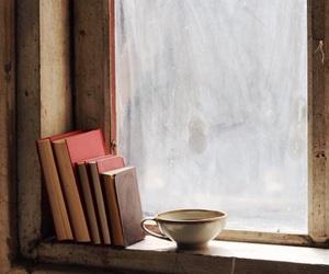 books, rusty, and tea image