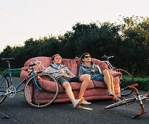boy, bike, and guy image