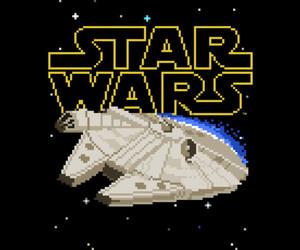 8-bit, star wars, and art image
