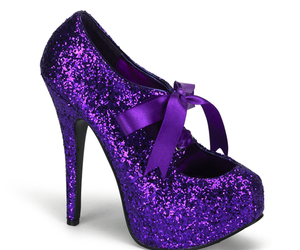 purple, shoes, and glitter image