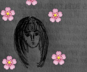 flowers, hair, and in image