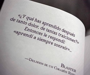 frases, book, and smile image