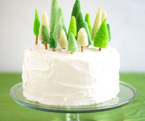 cake, green, and tree image