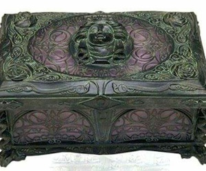 dark colors, gothic, and jewelry box image