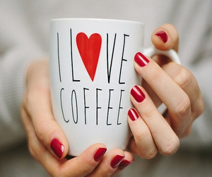 coffee, red, and cup image