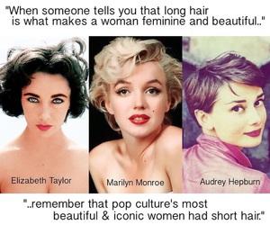 audrey hepburn, Elizabeth Taylor, and Marilyn Monroe image
