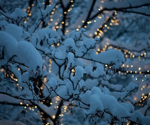 snow, light, and winter image