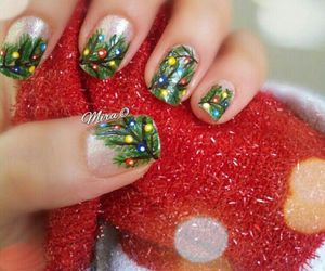 nails, branches, and christmas image