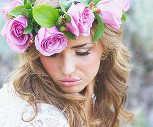 hair, wedding, and femenine image