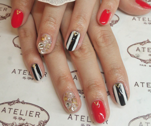 manicure, nails, and nail art image