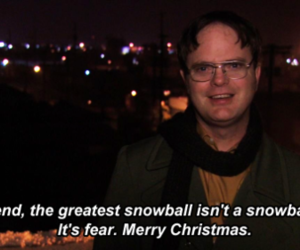 dwight, dwight schrute, and merry christmas image