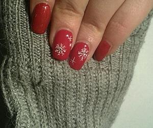 christmas, girl, and nail image
