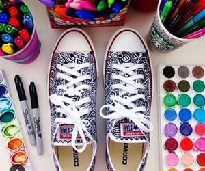art, colors, and converse image