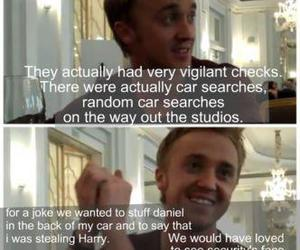 tom felton, funny, and harry potter image