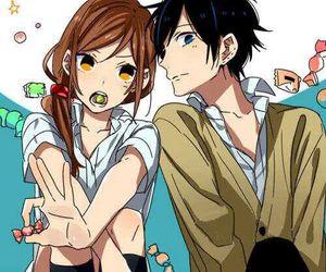 horimiya, manga, and couple image