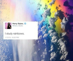 rainbows, Harry Styles, and one direction image