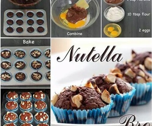 nutella, brownies, and chocolate image