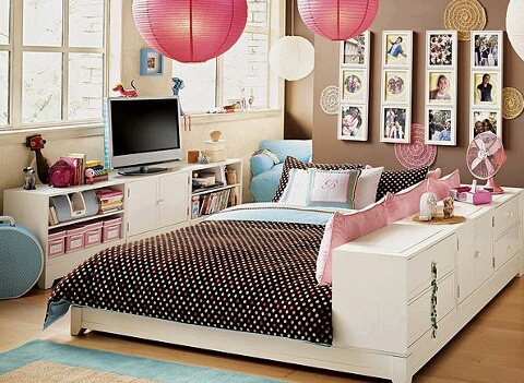 bed, couch, and decoration image