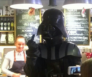 cafe, darth vader, and russia image