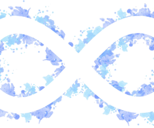 infinity, transparent, and blue image
