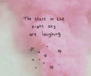 stars, pink, and quote image