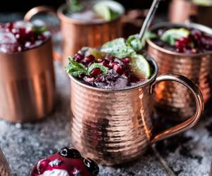 drink, christmas, and food image