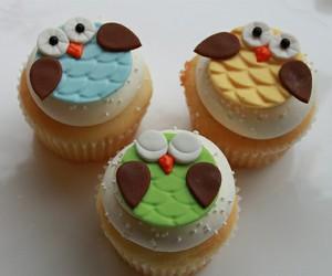 cupcake, owl, and cute image