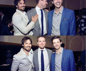 arrow, ian somerhalder, and grant gustin image