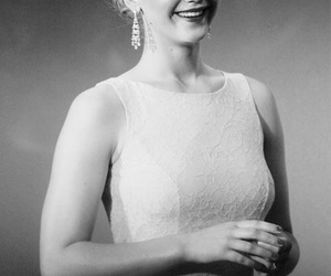 actress, black and white, and elegance image