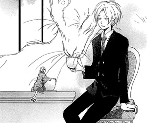 boy, manga, and tea image