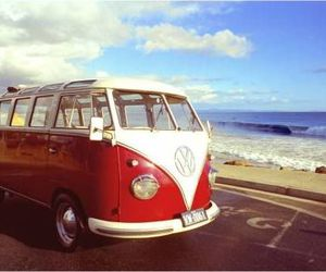 beach, van, and volkswagen image
