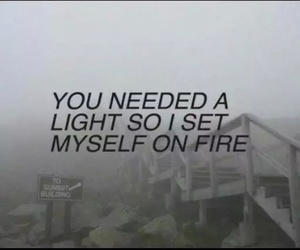 quotes, grunge, and fire image
