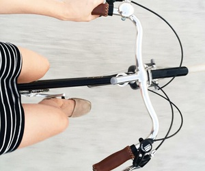 bike, girl, and bicycle image