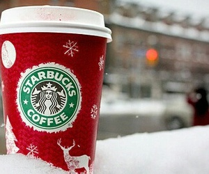 starbucks, snow, and header image