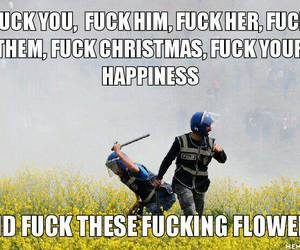 funny, flowers, and police image