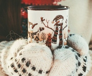 winter, cozy, and mittens image